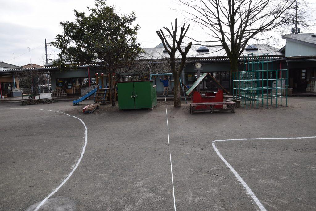 なかの幼稚園 園庭