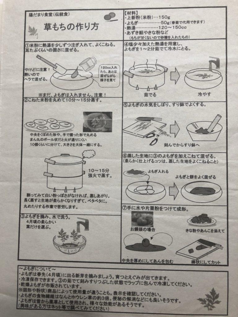 草餅 作り方